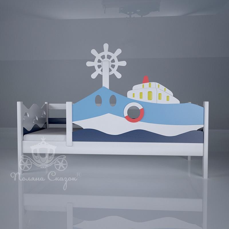детская кровать морячокборт декорированная купить детская