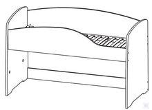 """Кровать верхняя (с основанием) 200х130 """"ФЛАМИНГО"""" Гербор"""