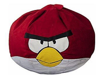 """Бескаркасный пуфик """"Красная птица"""""""