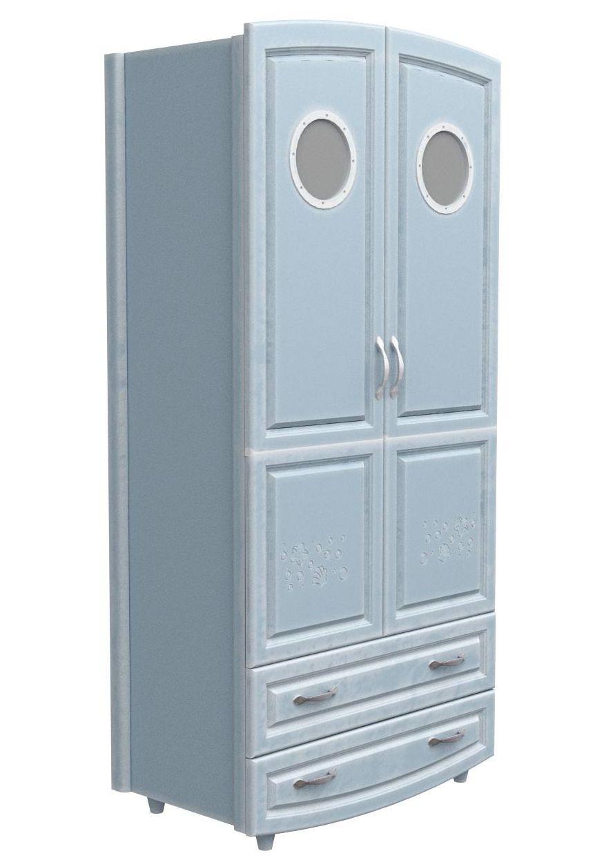 Шкаф №1 Иллюминатор Верес (патина морская лазурь)