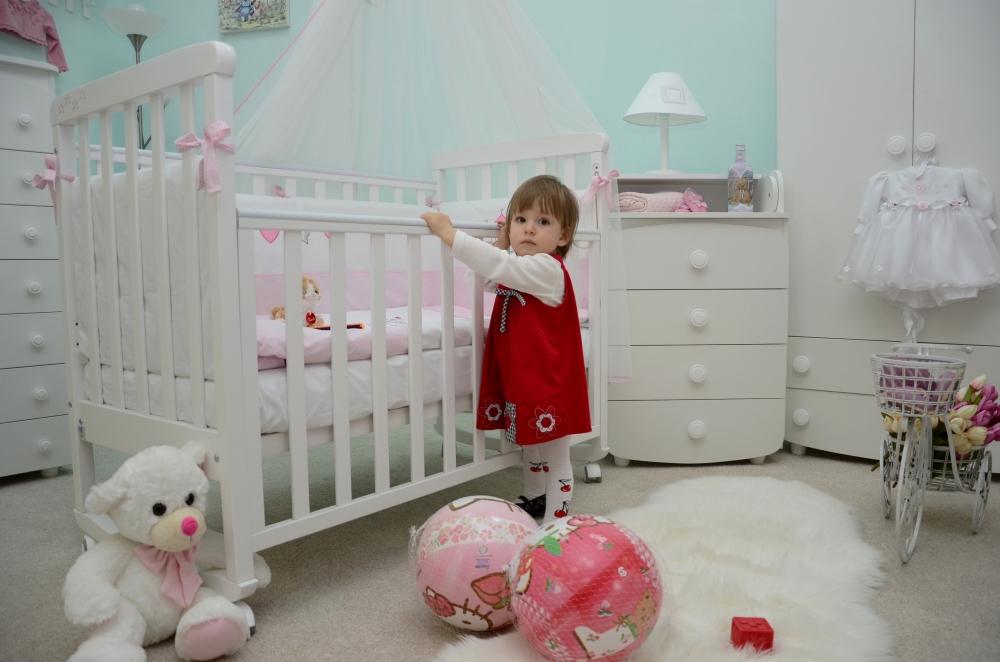 Детская кроватка СОНЯ ЛД-12 Верес (белый)