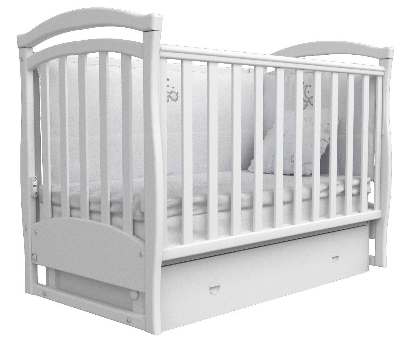 Детская кроватка СОНЯ ЛД-6 маятник Верес (белый)