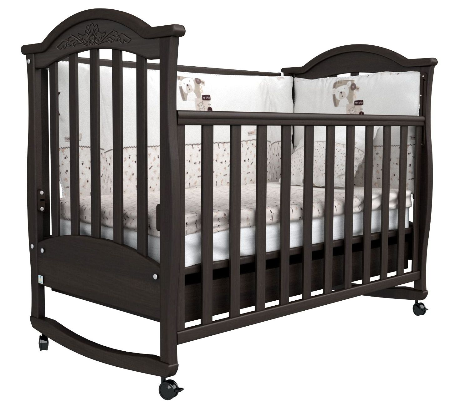 Детская кроватка СОНЯ ЛД-3 Верес (орех)