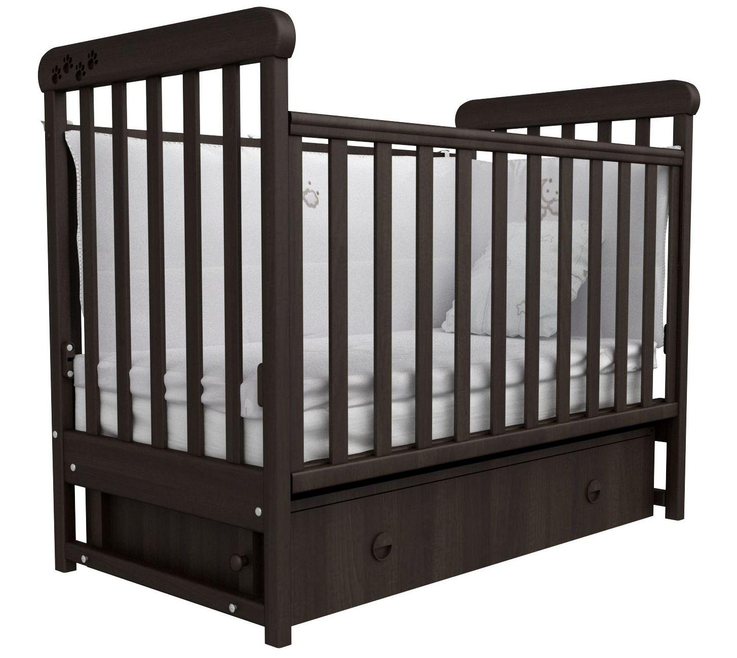 Детская кроватка СОНЯ ЛД-12 маятник Верес (орех)