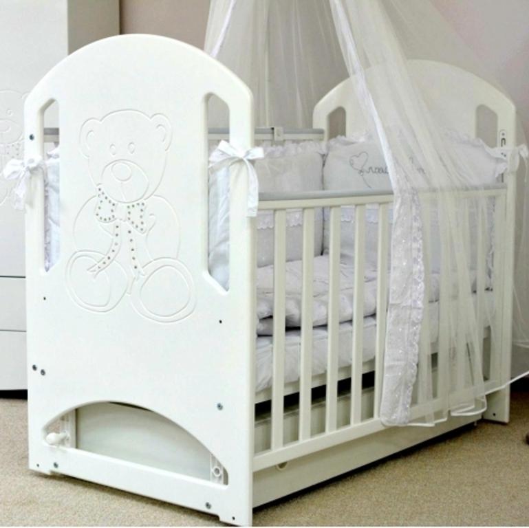 Детская кроватка СОНЯ ЛД-8 маятник Верес (белый)