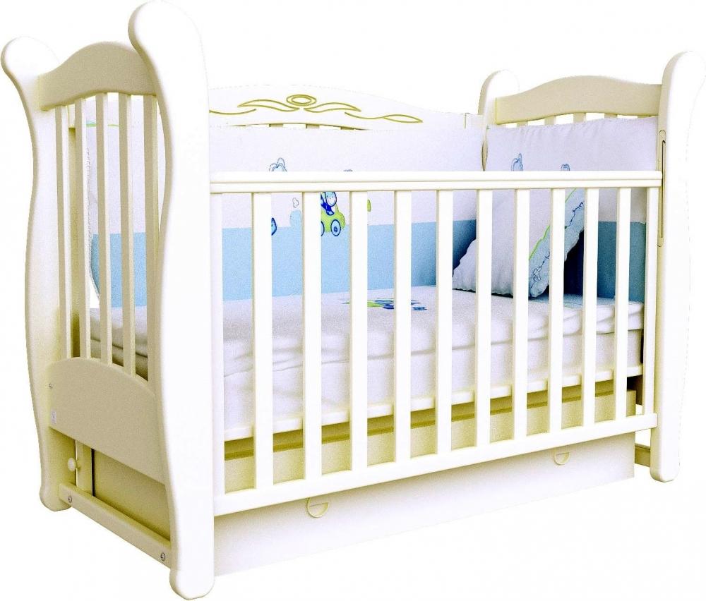 Детская кроватка СОНЯ ЛД-15 маятник Верес (слоновая кость)