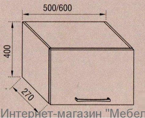 """Тумба верхняя """"АДЕЛЬ"""" 60ОКАП"""