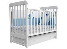 Детская кроватка СОНЯ ЛД-12 маятник Верес (белый)