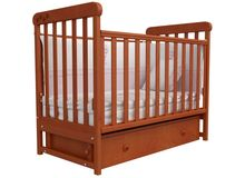 Детская кроватка СОНЯ ЛД-12 маятник Верес (ольха)
