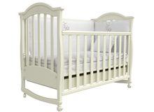 Детская кроватка СОНЯ ЛД-3 Верес (слоновая кость)