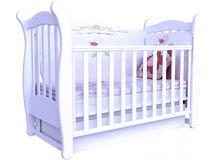 Детская кроватка СОНЯ ЛД-15 маятник Верес (белый)